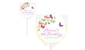 Butterflies Personalised Lollipops - Australia's #1 Kids Party Supplies