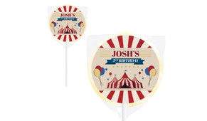 Retro Circus Personalised Lollipops - Australia's #1 Kids Party Supplies