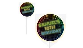 Disco Lights Personalised Lollipops - Australia's #1 Kids Party Supplies