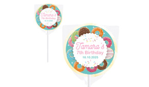 Donut Party Personalised Lollipops - Australia's #1 Kids Party Supplies