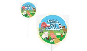 Down The Farm Personalised Lollipops - Australia's #1 Kids Party Supplies