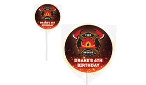 Firefighter Personalised Lollipops - Australia's #1 Kids Party Supplies