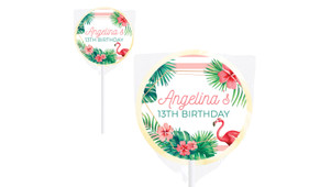 Flamingle Flamingo Personalised Lollipops - Australia's #1 Kids Party Supplies