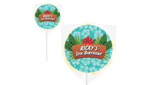 Hawaiian Luau Personalised Lollipops - Australia's #1 Kids Party Supplies