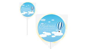 Hot Air Balloon Personalised Lollipops - Australia's #1 Kids Party Supplies