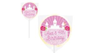 Princess Castle Personalised Lollipops - Australia's #1 Kids Party Supplies