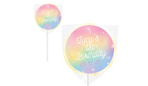 Rainbow Sparkle Personalised Lollipops - Australia's #1 Kids Party Supplies