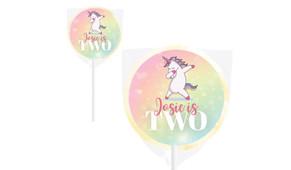 Unicorn Dabbing Personalised Lollipops - Australia's #1 Kids Party Supplies