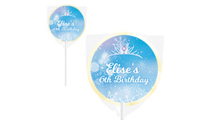 Ice Princess Birthday Party Personalised Lollipops