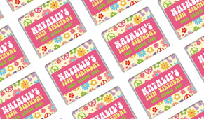 60's Hippie Personalised Mini Chocolates - Australia's #1 Kids Party Supplies