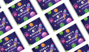 Outerspace Personalised Mini Chocolates - Australia's #1 Kids Party Supplies