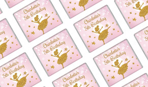 Golden Ballerina Personalised Mini Chocolates - Australia's #1 Kids Party Supplies