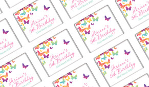 Butterflies Personalised Mini Chocolates - Australia's #1 Kids Party Supplies