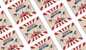 Retro Circus Personalised Mini Chocolates - Australia's #1 Kids Party Supplies