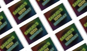 Disco Lights Personalised Mini Chocolates - Australia's #1 Kids Party Supplies
