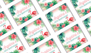 Flamingle Flamingo Personalised Mini Chocolates - Australia's #1 Kids Party Supplies