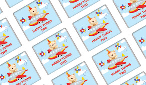 Bear Air Plane Personalised Mini Chocolates - Australia's #1 Kids Party Supplies