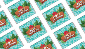 Hawaiian Luau Personalised Mini Chocolates - Australia's #1 Kids Party Supplies