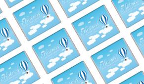 Hot Air Balloon Personalised Mini Chocolates - Australia's #1 Kids Party Supplies