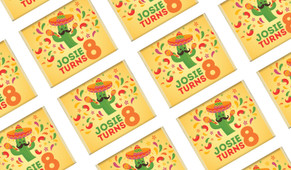 Mexican Fiesta Birthday Personalised Mini Chocolates