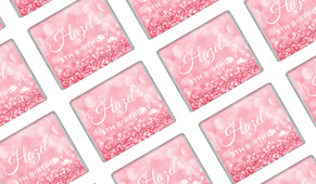 Pink Glitter Personalised Mini Chocolates - Australia's #1 Kids Party Supplies