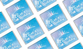 Ice Princess Birthday Personalised Mini Chocolates