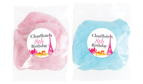 Paris Watercolour Personalised Fairy Floss - Australia's #1 Kids Party Supplies