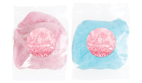 Pink Glitter Personalised Fairy Floss - Australia's #1 Kids Party Supplies