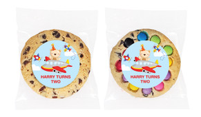 Bear Air Plane Personalised Birthday Cookie - Australia's #1 Kids Party Supplies