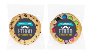 Moustache Personalised Birthday Cookie - Australia's #1 Kids Party Supplies