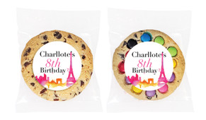 Paris Watercolour Personalised Birthday Cookie - Australia's #1 Kids Party Supplies