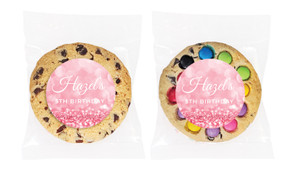 Pink Glitter Personalised Birthday Cookie - Australia's #1 Kids Party Supplies