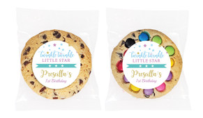 Twinkle Star 1st Birthday Personalised Birthday Cookie - Australia's #1 Kids Party Supplies