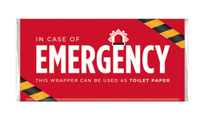 Emergency Toilet Paper Personalised Chocolate Bars