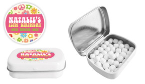 60s Hippy Birthday Party Personalised Mint Tin
