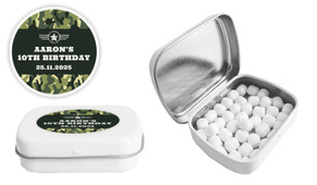 Army Birthday Personalised Mint Tin Favour - Australia's #1 Kids Party Supplies