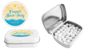 Beach Birthday Personalised Mint Tin Favour - Australia's #1 Kids Party Supplies