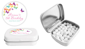 Butterflies Birthday Personalised Mint Tin Favour - Australia's #1 Kids Party Supplies