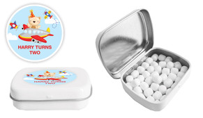 Bear Air Plane Birthday Personalised Mint Tin Favour - Australia's #1 Kids Party Supplies