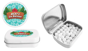 Hawaiian Luau Birthday Personalised Mint Tin Favour - Australia's #1 Kids Party Supplies