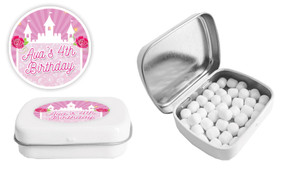 Princess Castle Birthday Personalised Mint Tin Favour - Australia's #1 Kids Party Supplies