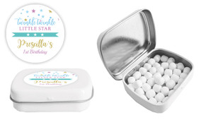 Twinkle Star 1st Birthday Birthday Personalised Mint Tin Favour - Australia's #1 Kids Party Supplies