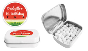 Watermelon Birthday Personalised Mint Tin Favour - Australia's #1 Kids Party Supplies