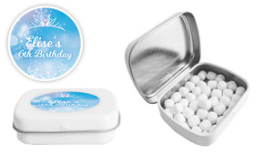 Ice Princess Birthday Personalised Mint Tin Favour