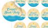 Beach Birthday Large 65mm Custom Stickers - Set Of 12 - Australia's #1 Kids Party Supplies