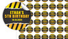 Construction Builders Birthday Small 25mm Custom Stickers - Set Of 70 - Australia's #1 Kids Party Supplies