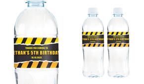 Construction Builders Birthday Birthday Water Bottle Stickers (Set Of 6) - Australia's #1 Kids Party Supplies