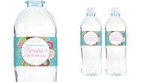 Donut Birthday Birthday Water Bottle Stickers (Set Of 5) - Australia's #1 Kids Party Supplies