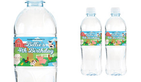 Down The Farm Birthday Birthday Water Bottle Stickers (Set Of 5) - Australia's #1 Kids Party Supplies