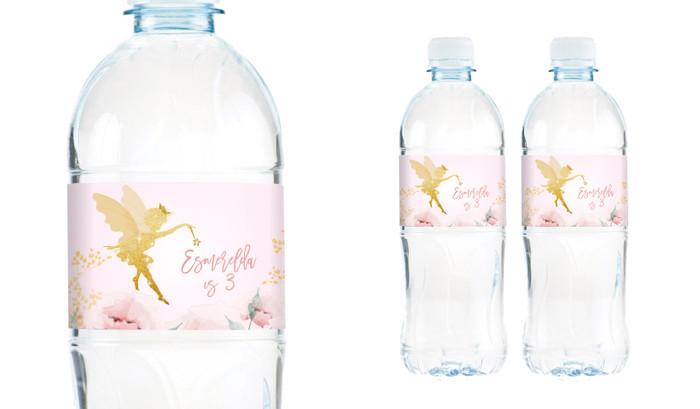 Little Fairy Birthday Birthday Water Bottle Stickers (Set Of 5) - Australia's #1 Kids Party Supplies